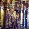 В день престольного праздника храма состоялось архиерейское богослужение